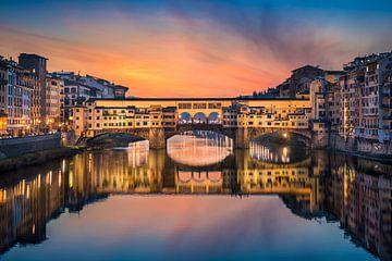 Ponte Vecchio in Florence van Michael Abid