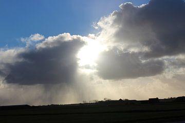 Wolken in Egmond aan Zee Noord-Holland von Elisabeth Eisbach