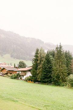 Landschap van Wildschönau, Oostenrijk van Vildan Ersert