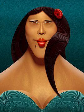 De Rosa Lisa van Ton van Hummel (Alias HUVANTO)