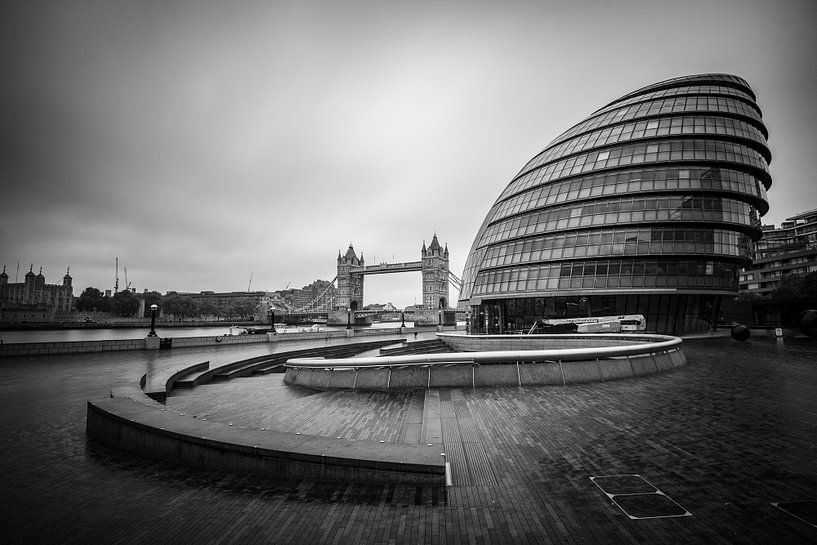 City Hall en Tower Bridge van Ronne Vinkx