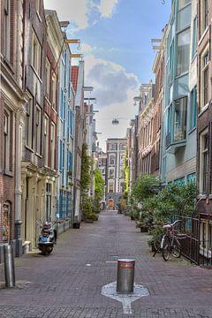 Amsterdam, zijstraat Kloveniersburgwal von Tony Unitly