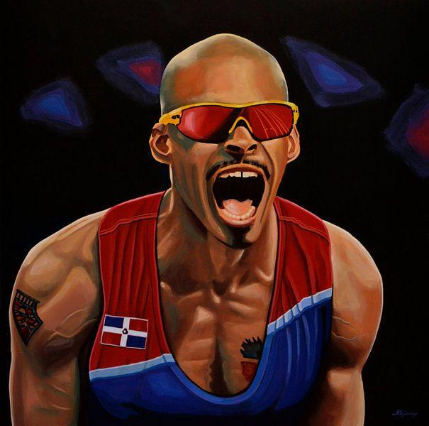 Felix Sanchez schilderij van Paul Meijering