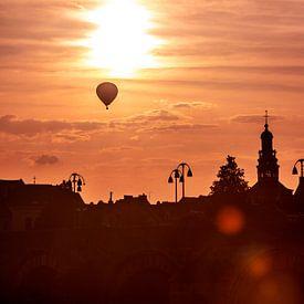 Sunset Maastricht van Aron Nijs