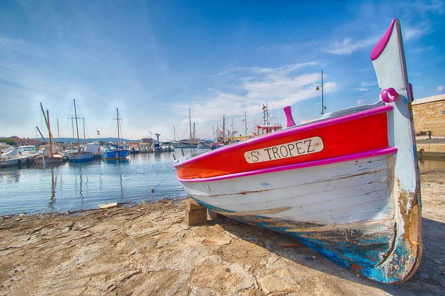 Boot in Saint-Tropez van Patrick van Oostrom
