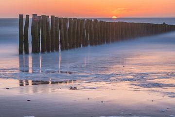 Avondrood, Sunset, Abendrot von Wendy van Kuler