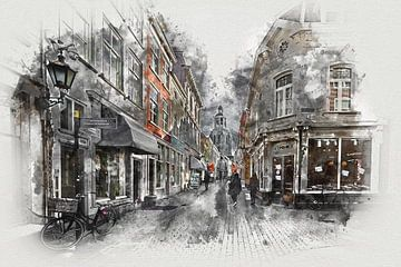 De Kremerstraat en de Peperbus in Bergen op Zoom (kunst)