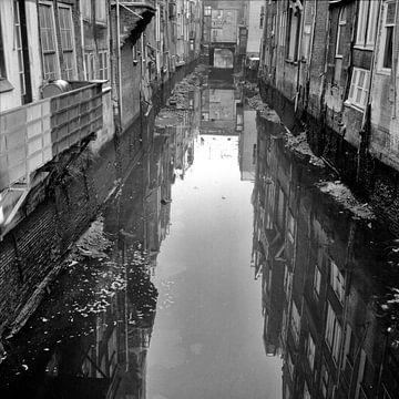 Voorstraathaven laag water van Dordrecht van Vroeger