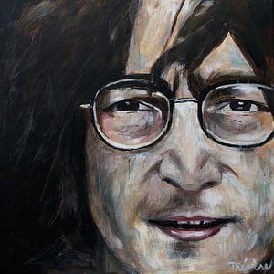 Porträt von John Lennon.