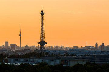 Funkturm und Fernsehturm mit Berliner Skyline von Frank Herrmann
