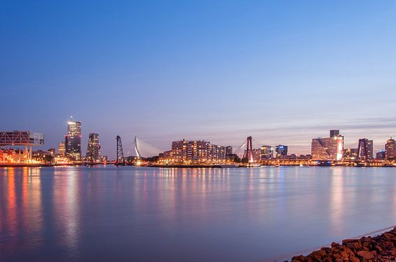 Skyline Rotterdam van Christian de Leeuw