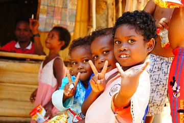 Orang Asli children van