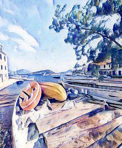 kroatische Insel #3 von zam art