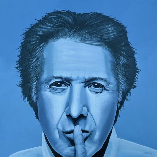 Dustin Hoffman Schilderij  van Paul Meijering