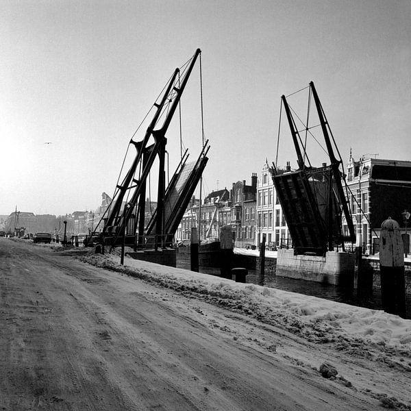 Dordrecht de Damiatebrug van Dordrecht van Vroeger