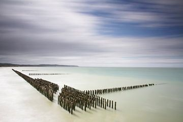 Wellenbrecher in Nordwales von Irma Grotenhuis