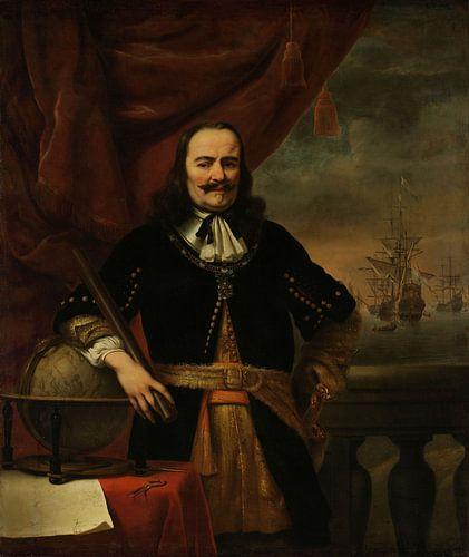 Michiel de Ruyter als luitenant-admiraal door Ferdinand Bol van
