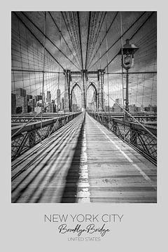 In beeld: NEW YORK CITY Brooklyn Bridge van Melanie Viola