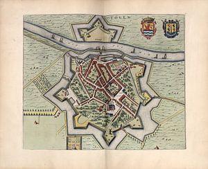 Tholen, Stadtplan Joan Blaeu 1652