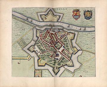 Tholen, Stadsplattegrond Joan Blaeu 1652 van Atelier Liesjes