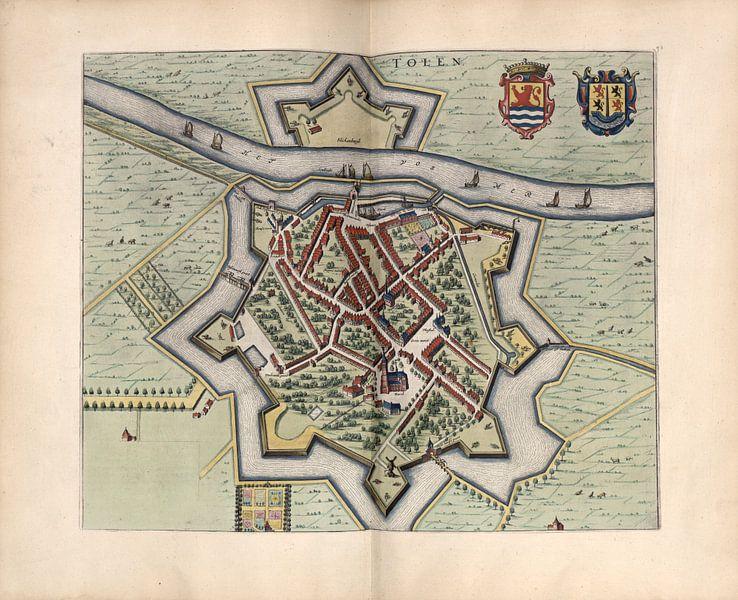 Tholen, Stadtplan Joan Blaeu 1652 von Atelier Liesjes
