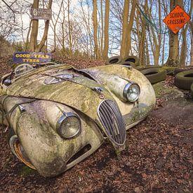 De verlaten Jaguar van Frans Nijland