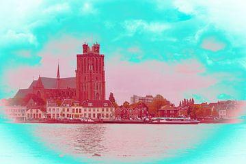 Dordrecht in rood-groene tinten van Ineke Duijzer