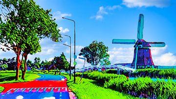 Hühnerbrücke Heerhugowaard von Digital Art Nederland