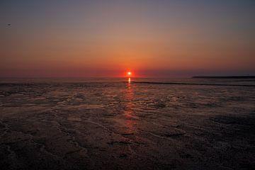 Vuurbal zonsondergang van PhotoJoy