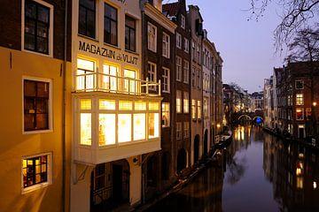 Oudegracht gezien vanaf de Gaardbrug in Utrecht (1) van