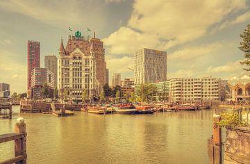 Oude Haven Rotterdam (vintage) van John Kreukniet