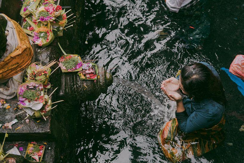 Water tempel in Bali van W Machiels