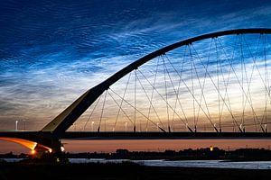 Nachtwolken Nijmegen van Henk Kersten