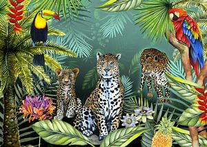 Tropische planten wilde dieren van Geertje Burgers