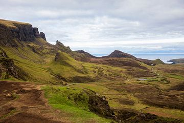Scotland Isle of Skye: Erstaunliche Aussicht Quiraing von Remco Bosshard