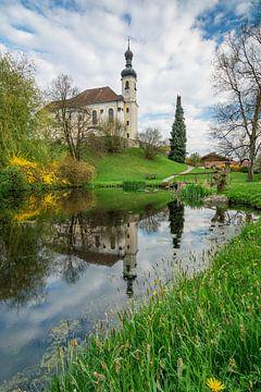 Lente in Breitbrunn aan de Chiemsee van Martin Wasilewski