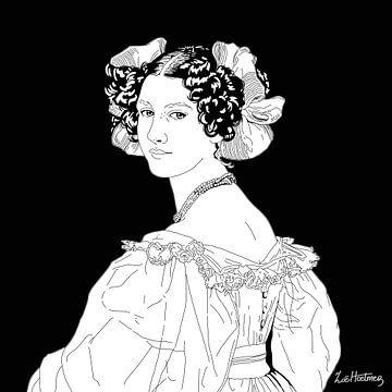 Porträt von Auguste Strobl von Zoë Hoetmer