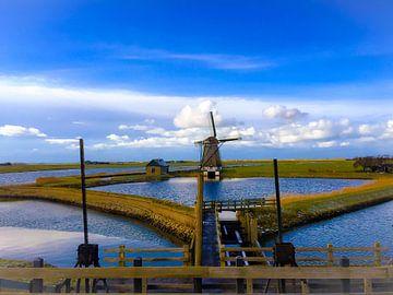 Texel islands windmill 'het Noorden' van Lisette OpTexel