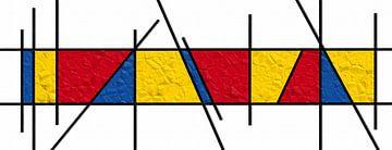 Papier de style Piet Mondrian sur Marion Tenbergen
