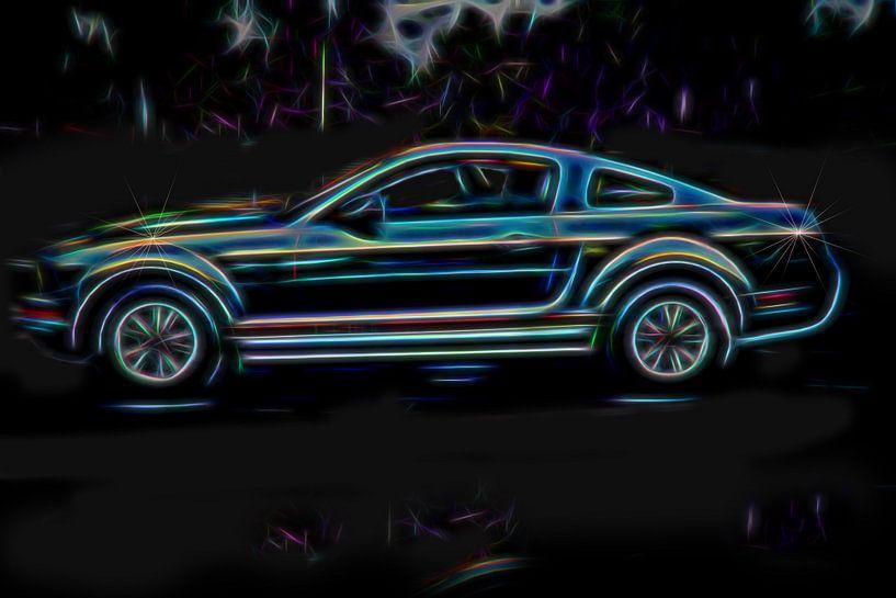 Mustang V6, Ford muscle car sur Atelier Liesjes