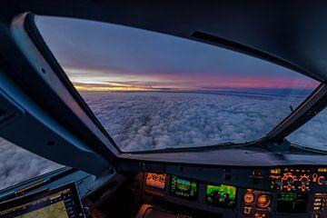 Zonsopgang in de cockpit van Denis Feiner