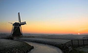 Moulin près de Hoek, Pays-Bas sur