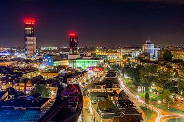 Leeuwarden by night van Alex De Haan