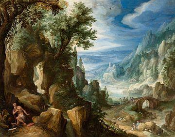 Berglandschaft mit Saint Jerome, Paul Bril