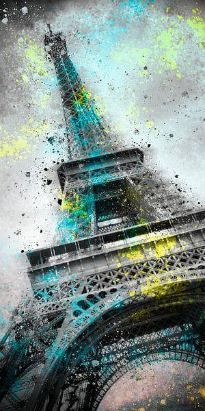 City-Art PARIS Eiffel Tower III van Melanie Viola