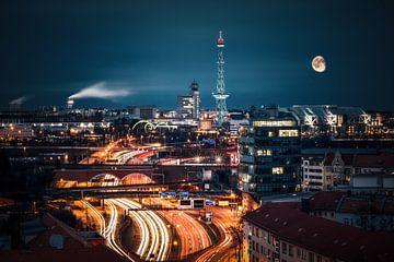 Berlin bei Nacht von Munich Art Prints