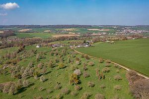 Luchtfoto van de Bellet Boomgaard bij Cottessen in Zuid-Limburg van John Kreukniet