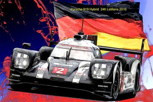 Porsche 24h LeMans 2016 van Roland Klinge