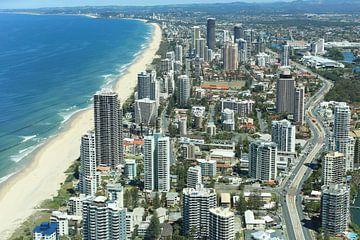Overview Gold Coast  in Australia sur Marcel van den Bos