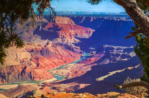 De colorado rivier in de Grand Canyon van Rietje Bulthuis